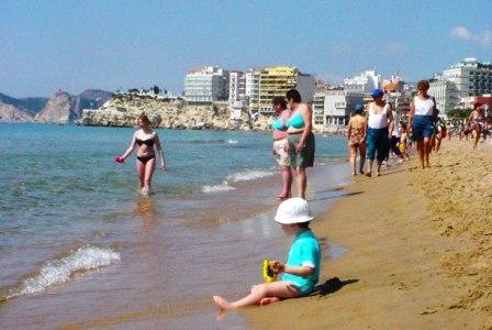 Disfrutando de la playa.